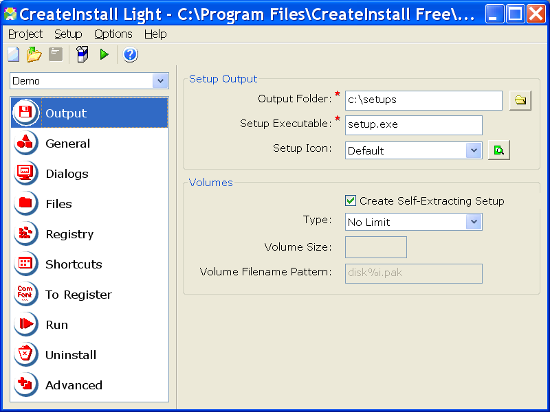Click to view CreateInstall Light 4.6.5 screenshot