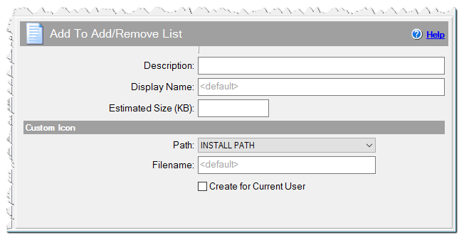 Add To Add/Remove List command
