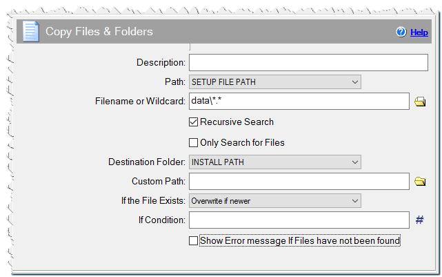 Copy Files & Folders command