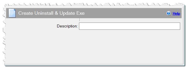Create Uninstall & Update Exe command