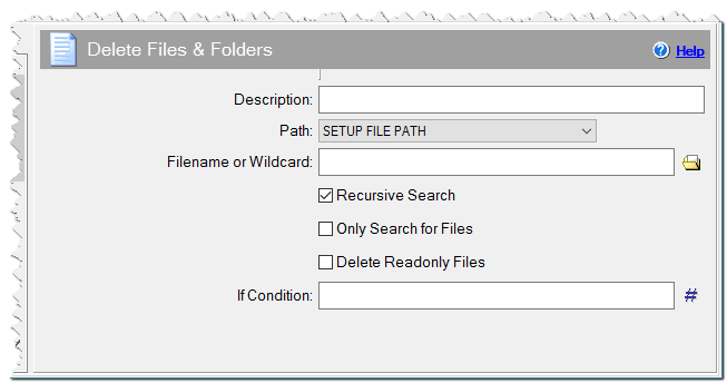 Delete Files & Folders command
