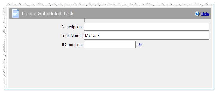 Delete Scheduled Task command