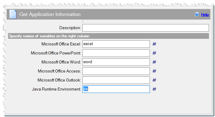 Get Application Information command