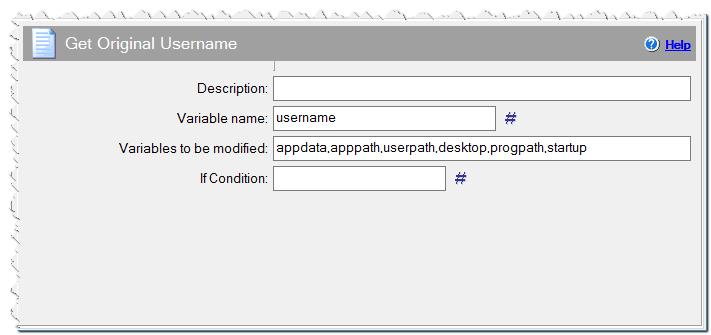 Get Original Username command