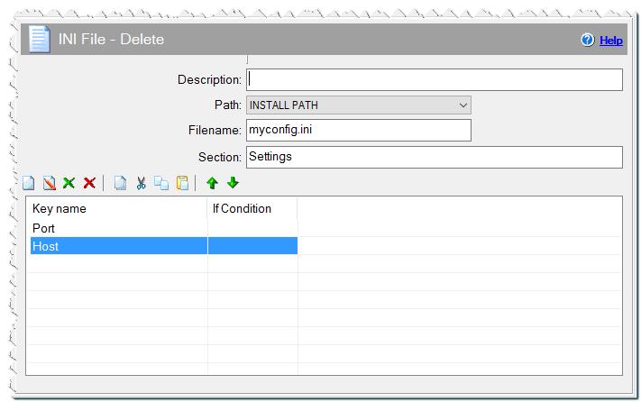 INI File - Delete command