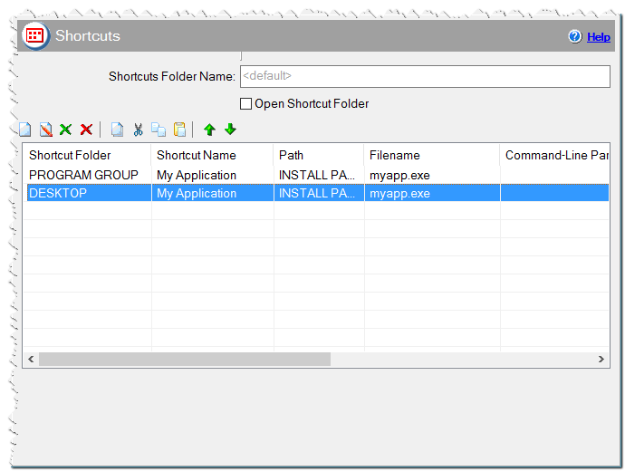 Shortcuts in CreateInstallAssistant installer