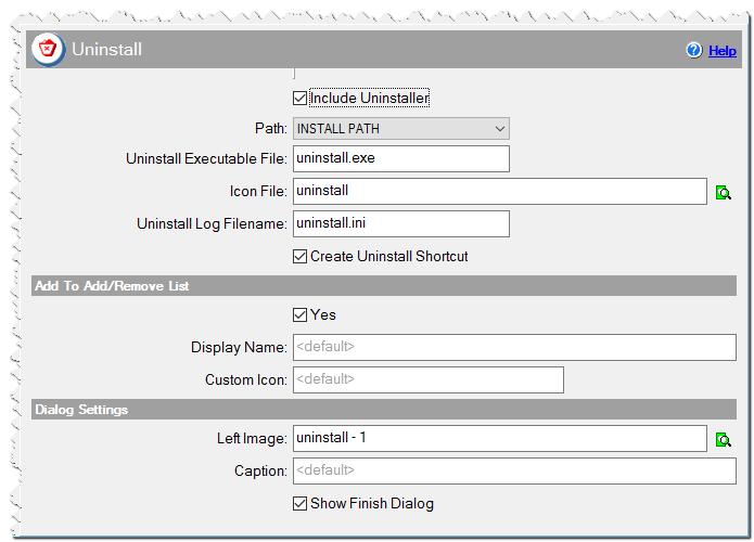 Uninstaller in CreateInstallAssistant installer