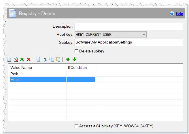 Registry - Delete command