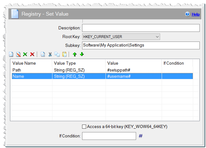 Registry - Set Value command