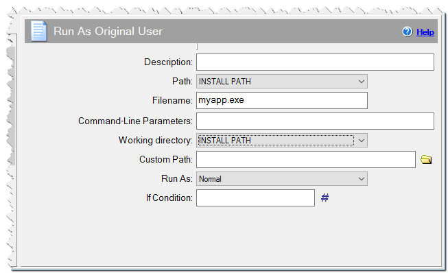 Run As Original User command