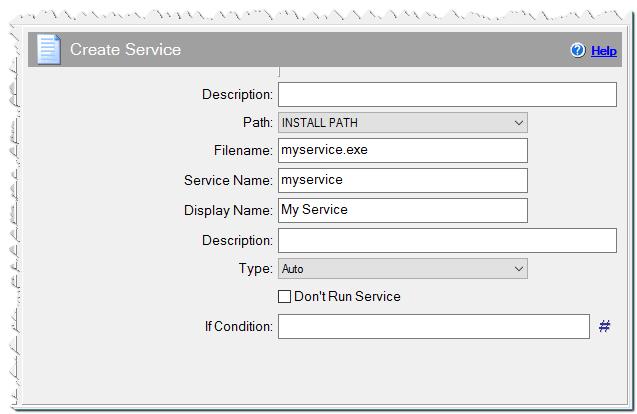 Create Service command