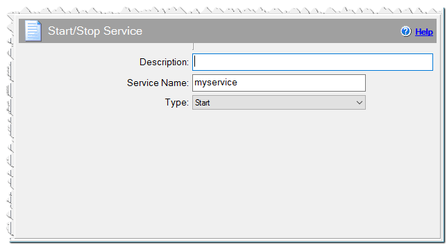Start/Stop service command